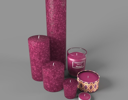 3D model Moroccan Candles