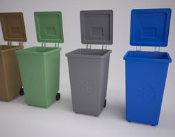 recycling bins 3d model