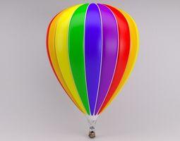 3D Rainbow Striped Hot Air Balloon