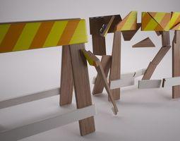3d model construction barrier