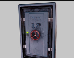 Bunker door PBR Game-Ready 3D asset