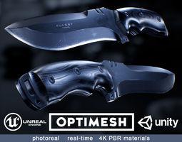VR / AR ready Survival Knife - PBR 3D model