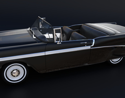 3D asset Chevrolet Bel Air 1955