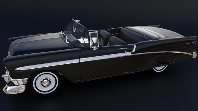 chevrolet bel air 1955 3d model obj mtl 3ds fbx blend dae abc 1