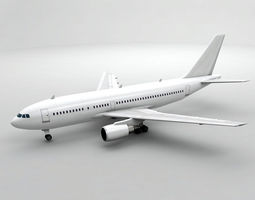 3D model Airbus A310-300 Airliner - Generic White