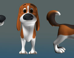 3D Cartoon Character Dog