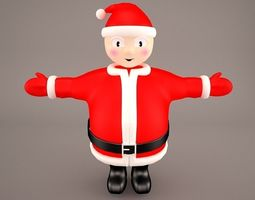 3D model Santa Claus Cartoon