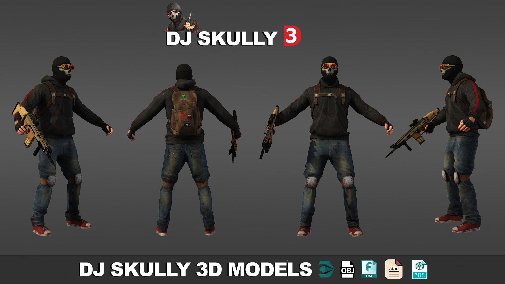 Dj Skully 3D Models Low Poly