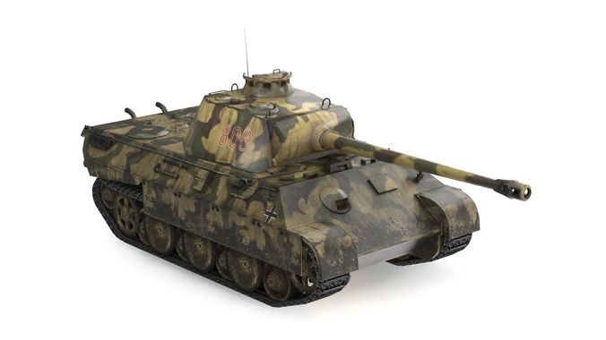 panther ausf 3d model low-poly max obj mtl fbx dae 1