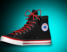 Converse Shoe With 2 Texture 3D asset game-ready