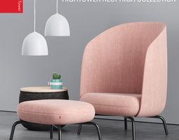 3D model HighTower Easy Nest chair