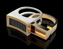 Secret Compartment ring v2 3D printable model