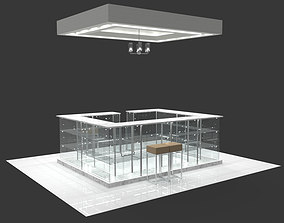Concession stand kiosk shop 3D