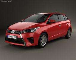 3D model Toyota Yaris 5-door hatchback 2014