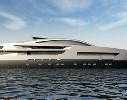 3D Baglietto Yacht