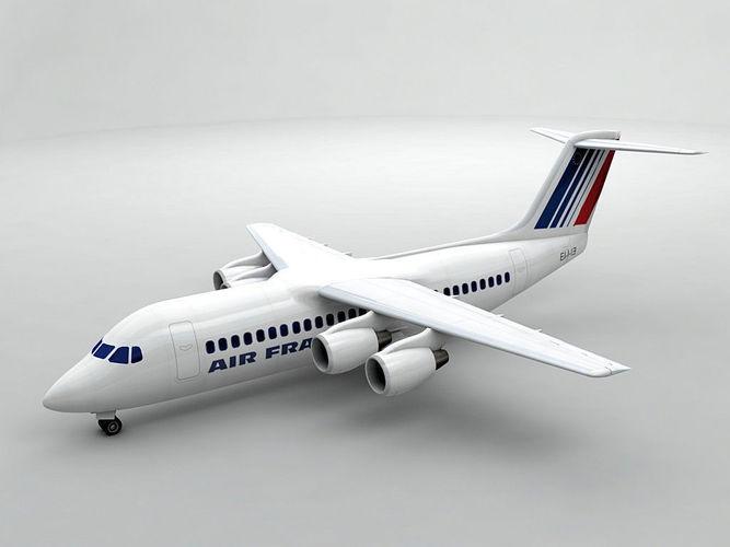 avro rj-100 - air france 3d model max obj 3ds dxf stl wrl wrz 1