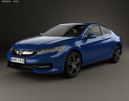 Honda Accord Coupe Touring 2016 3D model