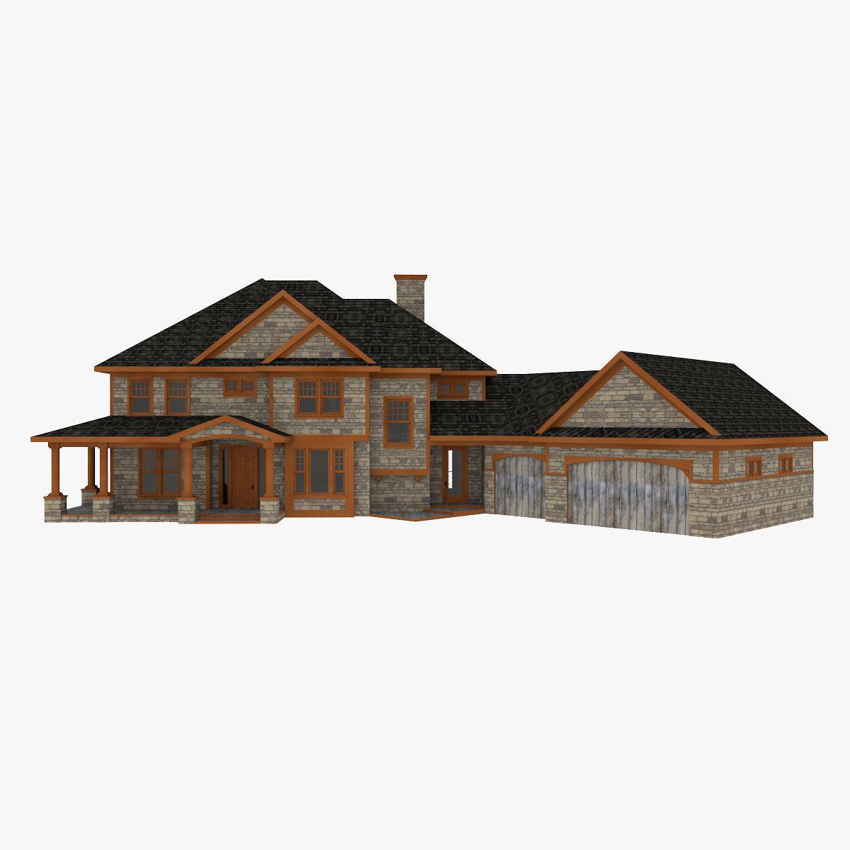 american big suburban house 3d cgtrader