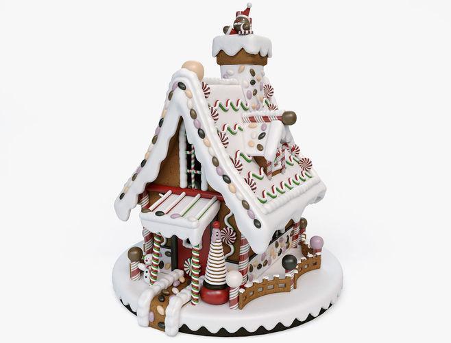 gingerbread house 3d model max obj mtl fbx c4d mat 1