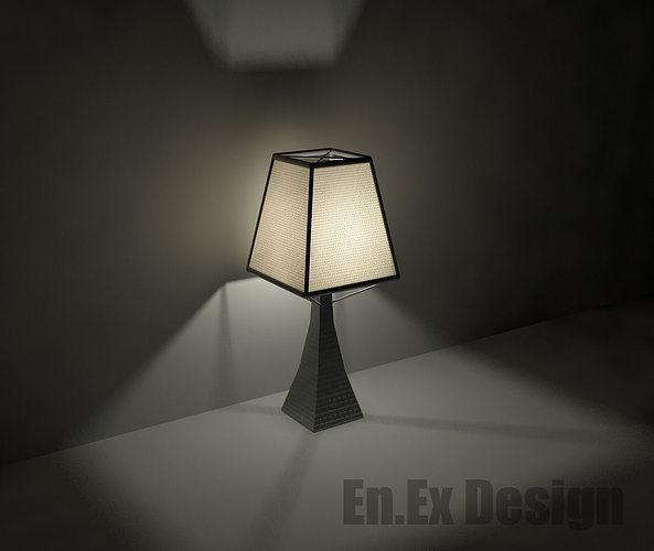 table lamp 3d model max obj mtl 3ds dwg 1