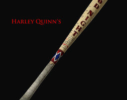Harley Quinns Good Night Baseball Bat 3D model