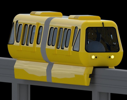 Monorail Train 3D