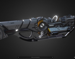 3D asset DX5 Mobility Rifle