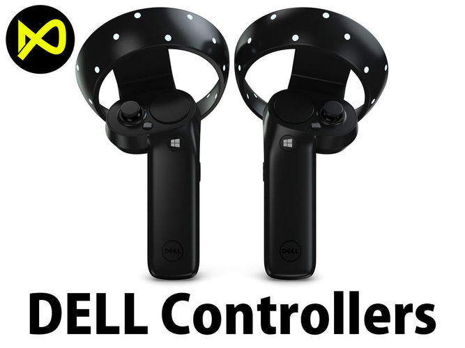 4c0c8ab09aa2 The Dell Visor Windows Mixed Reality Controllers 3D model