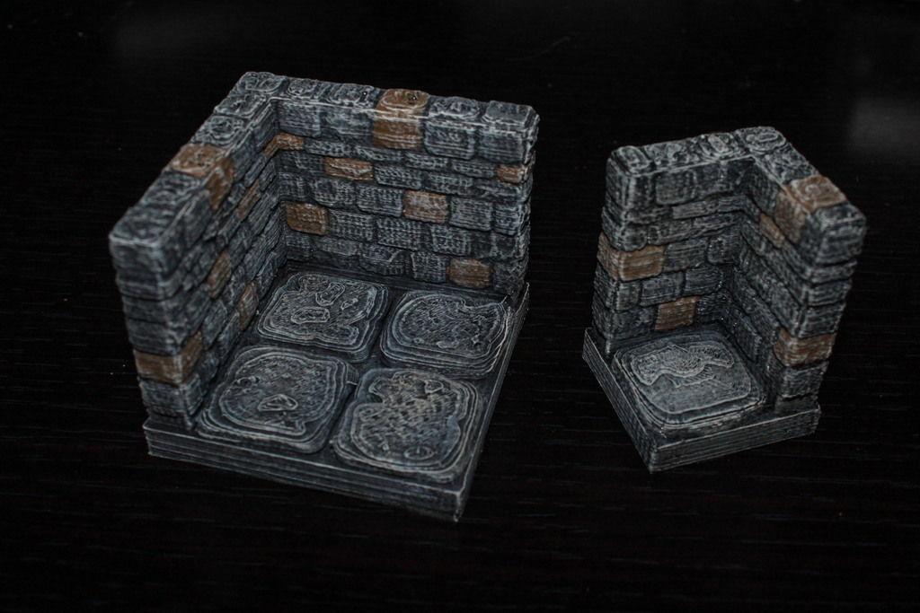 Openforge Stone Dungeon Edge Corner Free 3d Model 3d