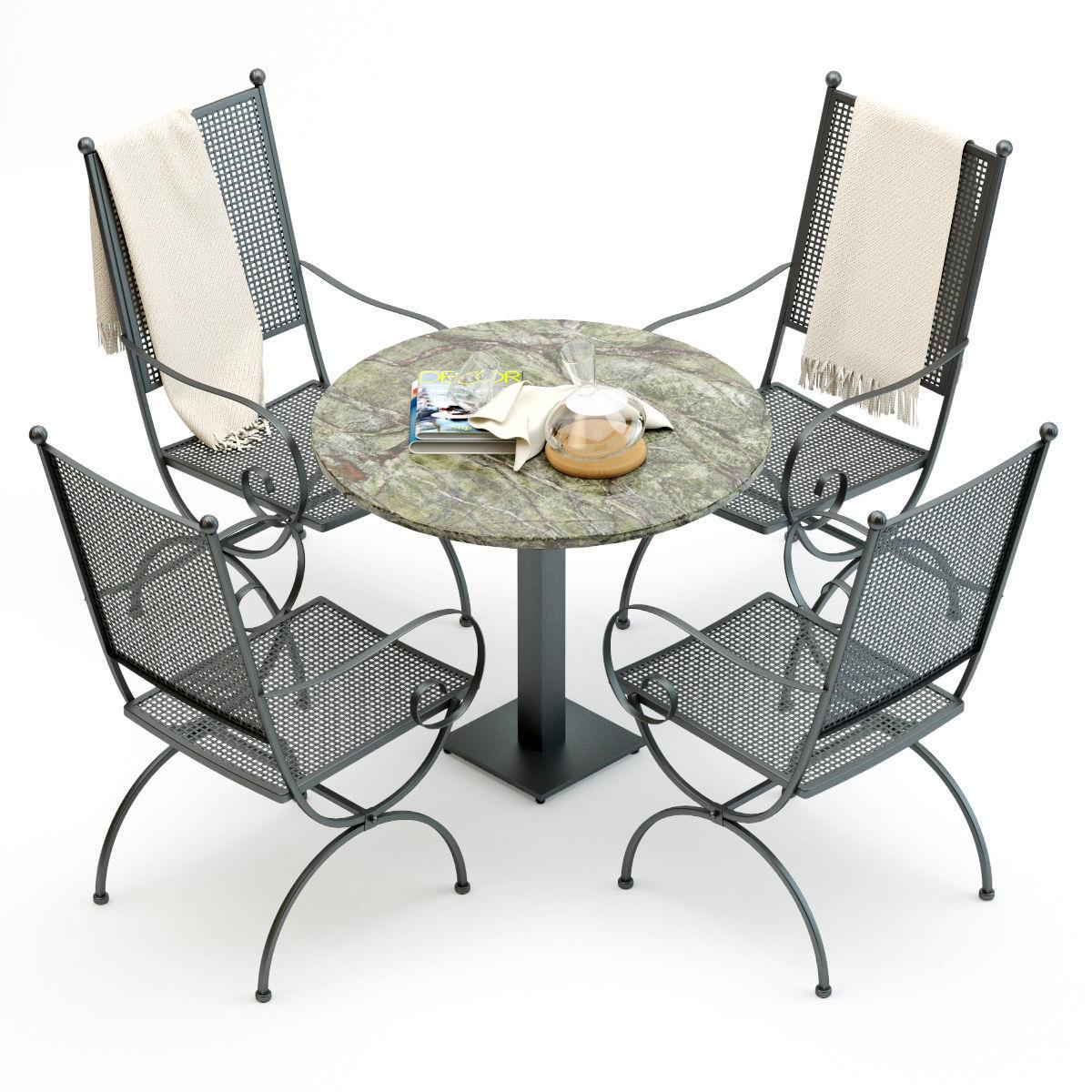66e12502ea55d wrought iron chair and table set 3d model max obj mtl fbx 1 ...