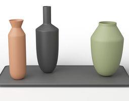 Muuto Balance 3 Vases Set 3D