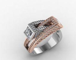 3D printable model diamond jewelry design fashion