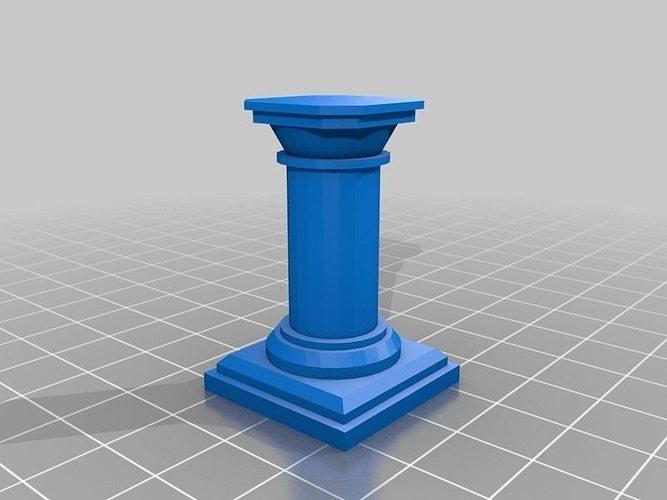 Openforge Pillar Free 3d Model 3d Printable Stl Cgtrader Com