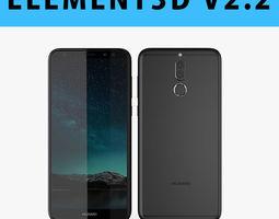 E3D - 3D Huawei Nova 2i Black 3D model