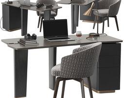 Minotti Jacob desk set 3D