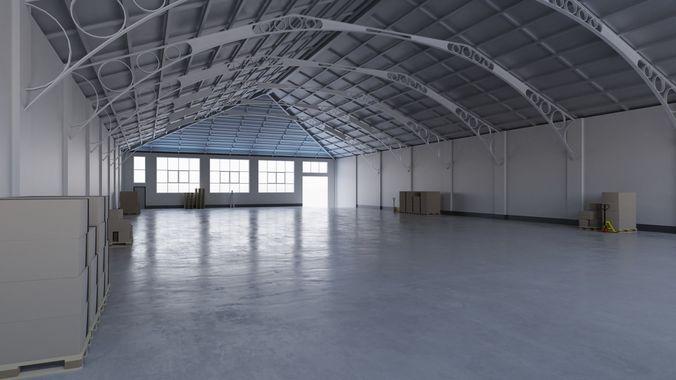 Warehouse Interior 7 3d Model Low Poly Obj 3ds Fbx Blend Mtl Tga 1 ...