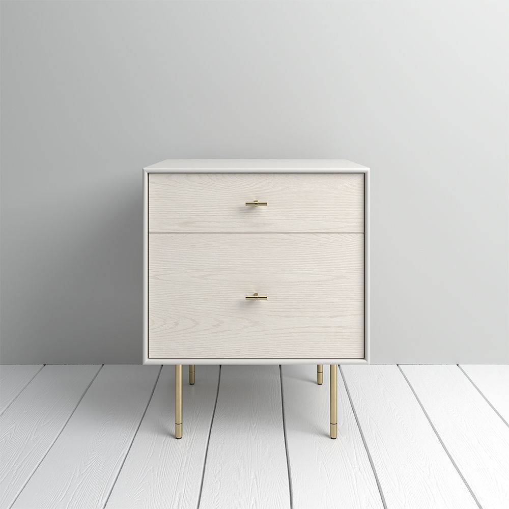 West Elm Modernist Wood  Lacquer Nightstand  Winter Wood