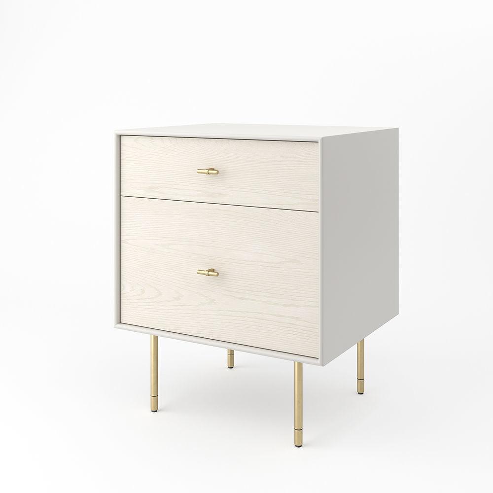 ... West Elm Modernist Wood Lacquer Nightstand Winter Wood 3d Model Obj Fbx  C4d Mtl ...