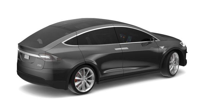2017 Tesla Model X Black Cgtrader