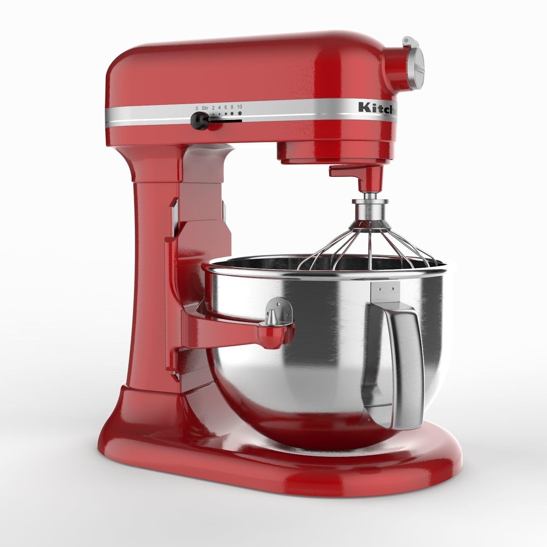 Kitchenaid Stand Mixer 3d Model Obj Fbx Sldprt Sldasm Slddrw Ige Igs Iges  Mtl Stp 1 ...