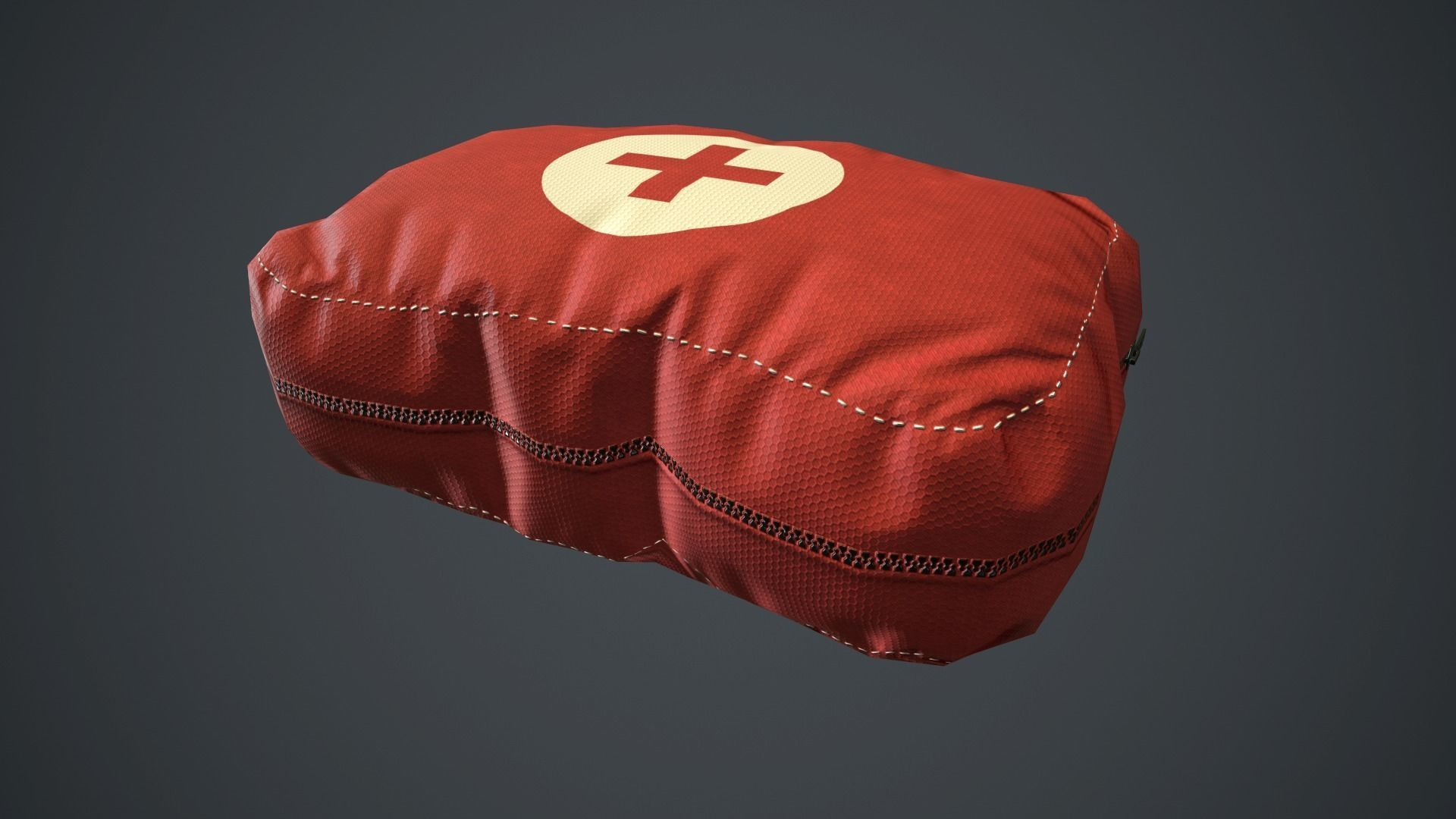 Red First Aid Kit PBR Game Ready