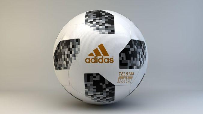 adidas telstar 18 3d model max obj mtl c4d 1