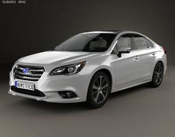 Subaru Legacy with HQ interior 2014 3D