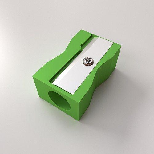 pencil sharpener 3d model 3ds fbx blend dae 1