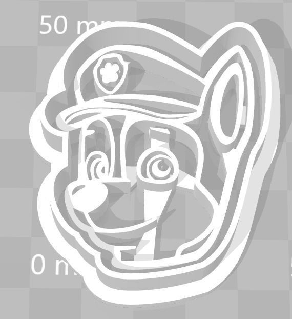 Paw Patrol Cookie Cutter Details Chase