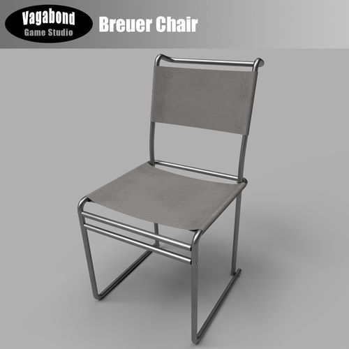 3D model lowpoly Classic Breuer Chair CGTrader