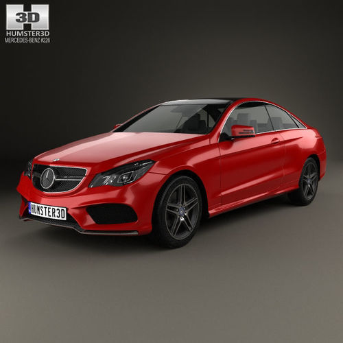 3D Model Mercedes-Benz E-Class Coupe AMG Sports Package