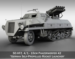 3D model SDKFZ 4 - Panzerwerfer 42