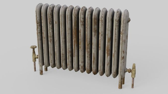 radiator heater 1 3d model low-poly obj mtl fbx blend 1