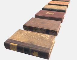 3D model Low Poly PBR Books